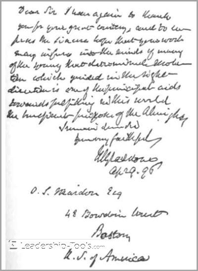 Fax to Orison Swett Marden