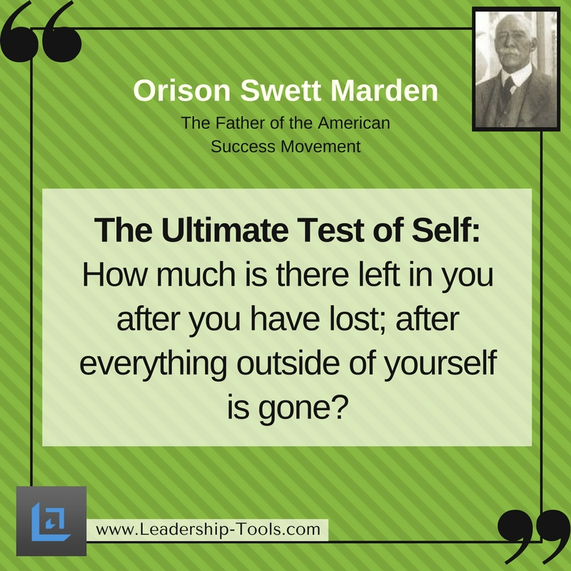 Orison Swett Marden Quotes on Determination