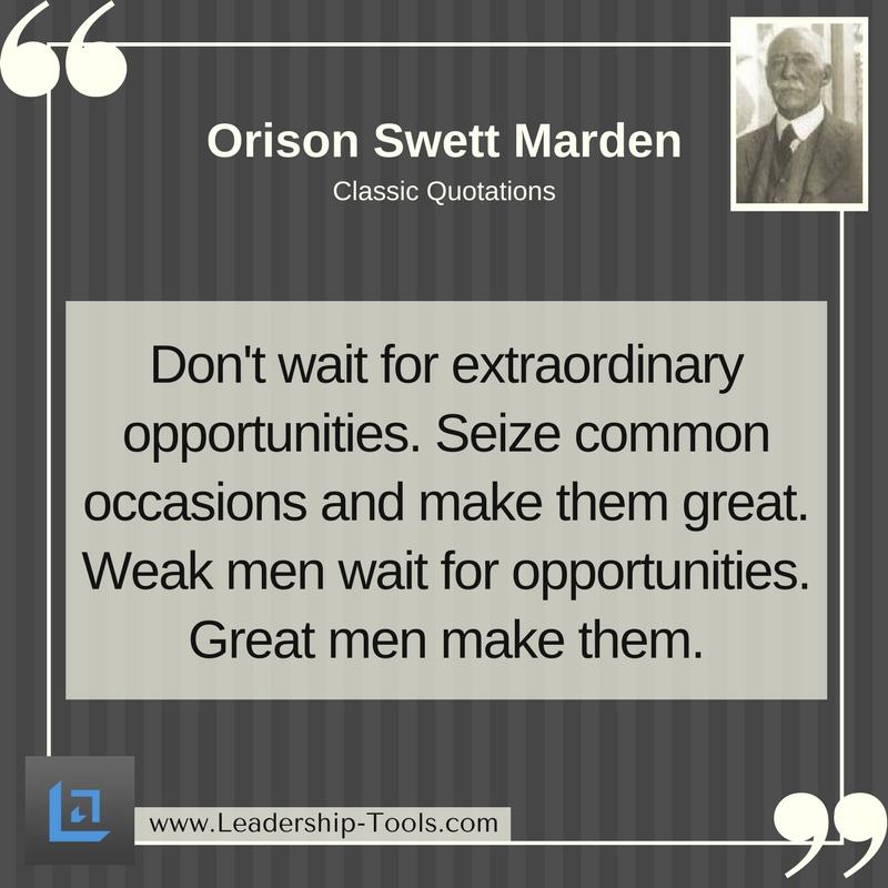 Orison Marden Quote