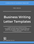 business writing templates ebook