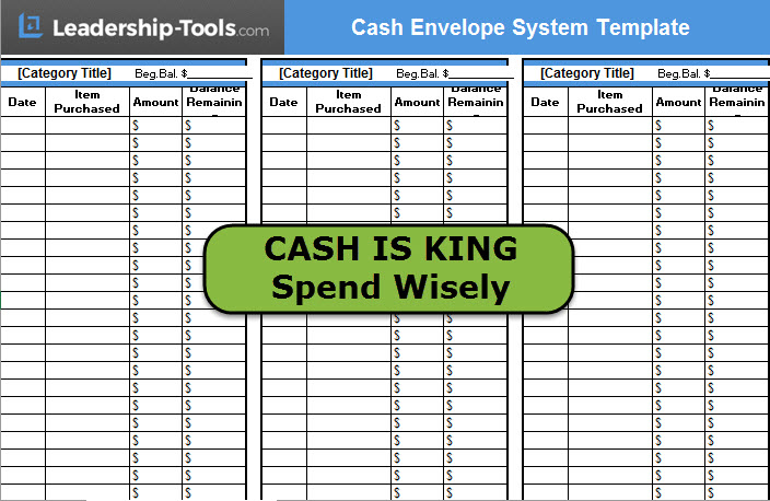 cash envelope system template