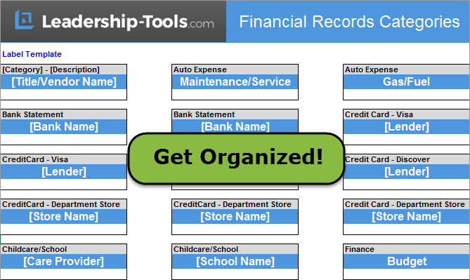 Organize Personal Finances To Eliminate Debt - Personal financial records template