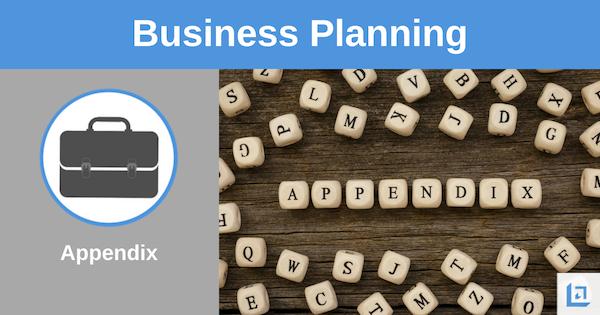 business plan appendix