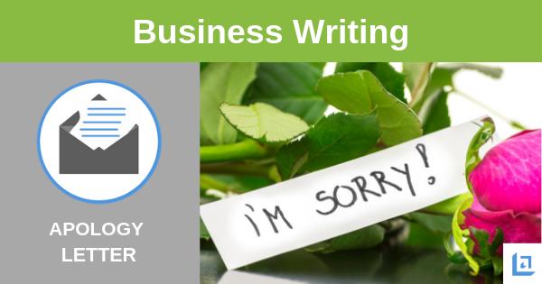 sample apology letter