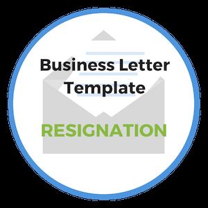 resignation letter