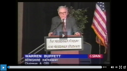 warren buffett cspan interview