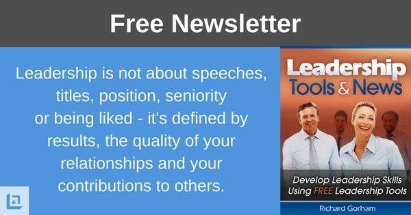 leadership tools newsletter
